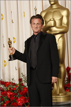 Penn picked up the best actor Oscar for his portrayal of Harevy Milk in the Gus Van Sant-directed Milk.
