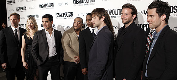 Cosmopolitan's Fun Fearless class of 2009: Aaron Eckhart, left, Ali Larter, Mario Lopez, Timbaland, Blair Underwood, Chace Crawford, Bradley Cooper, and Adam Levine.