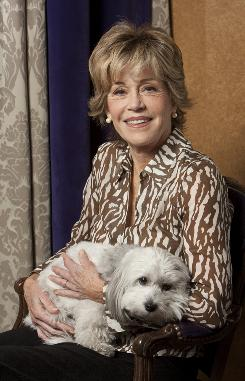 "Techie in training: ""I only Googled for the first time this past summer,"" says Jane Fonda, holding Tulea. But now she's blogging about her Broadway return in 33 Variations."