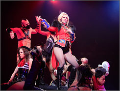 Britney Spears opened her new concert tour Tuesday in New Orleans, 90 miles from her hometown of Kentwood, La.