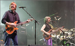 Phish perform for the first time in five years in Hampton, Va., on Friday.