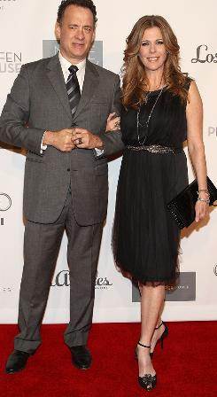 Tom Hanks and his wife, actress Rita Wilson, stepped out Monday night at the 7th Annual Backstage at the Geffen Gala.