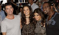 "Simon Cowell, left, Kara DioGuardi, Paula Abdul and Randy Jackson, the judges of American Idol, will now be able to ""save"" a contestant who finishes in the bottom."