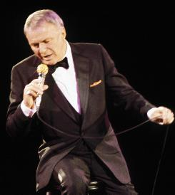 Ol' Blue Eyes: Frank Sinatra performs at the Meadowlands in East Rutherford, N.J., on Dec. 8, 1983.