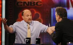 Mad Money host Jim Cramer, left, set himself up for a confrontation on Jon Stewart's show after appearing on other shows, including Today and Martha Stewart.