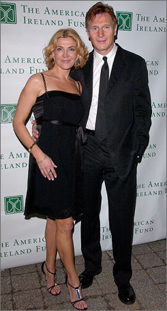 Natasha Richardson, photographed with husband Liam Neeson at a 2008 fundraiser, is in critical condition in Montreal following a ski accident.