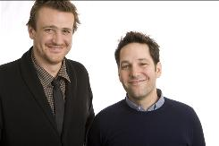 "Good friends Jason Segel, left, and Paul Rudd star in I Love You, Man, out Friday. ""We like this movie and we like each other,"" says Segel."