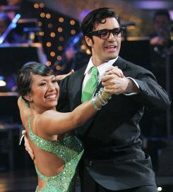 Cheryl Burke and Gilles Marini wow the judges on ABC's Dancing with the Stars.