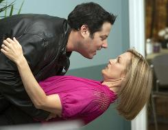 Doctor-patient relationship: Ali Wentworth as Dr. Goode, with Greg Grunberg as himself.