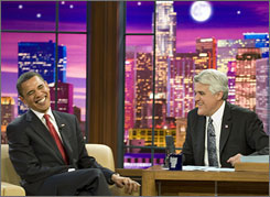 Barack Obama became the first sitting president to visit a late-night talk show. He without inflicting any damage on the integrity of the office, writes USA TODAY television critic Robert Bianco.
