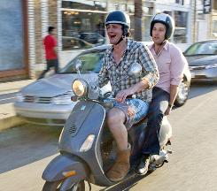 Sydney (Jason Segel, left) and Peter (Paul Rudd) form an unlikely bond in I Love You, Man.
