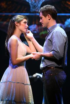 Josefina Scaglione and Matt Cavenaugh play Maria and Tony, the star-crossed lovers in the Broadway revival of West Side Story.