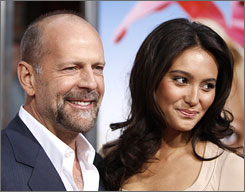 Bruce Willis, 54, and Emma Heming, 30, wed in front of his daughters, ex Demi Moore and her husband, Ashton Kutcher.