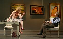 Katharine (Joan Allen) and Thomas (Jeremy Irons) spar in Impressionism, which opened Tuesday on Broadway.