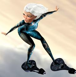 Ginormica ( voiced by Reese Witherspoon) helped power Monsters vs. Aliens to No. 1 at the box office this weekend.
