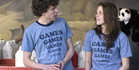 Jesse Eisenberg and Kristen Stewart star as two teens who learn everything they need to know about life during a summer spent working at a rundown amusement park. Adventureland  opens Friday.