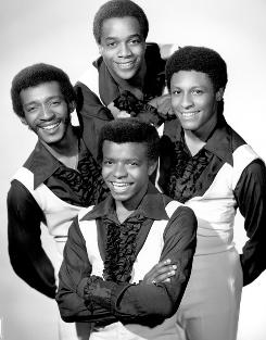 In a portrait from the '70s, clockwise from left , are Clarence Collins, Kenny Seymour, Sammy Strain and &quot;Little Anthony&quot;  Gourdine. 