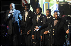 Hometown treasures the Temptations will perform the Star-Spangled Banner before Monday's NCAA basketball championship game in Detroit.