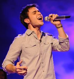 Kris Allen leads the Top 8, followed by Danny Gokey, Adam Lambert, Scott MacIntyre, Lil Rounds, Matt Giraud, Allison Iraheta and Anoop Desai.