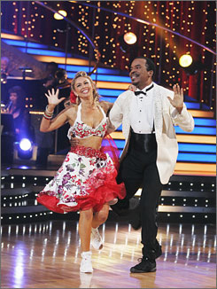 Kym Johnson and David Alan Grier performing on Dancing with the Stars on March 30.