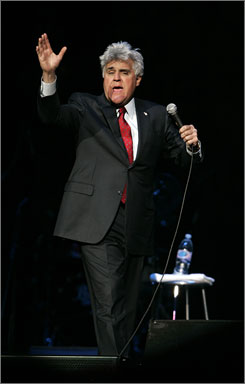 Jay Leno performs at the Palace of Auburn Hills on Tuesday. 