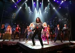 American Idol alum Constantine Maroulis takes center stage in Rock of Ages, now playing on Broadway at the Brooks Atkinson Theatre.