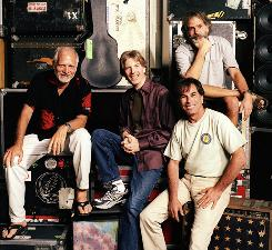 """There's always the possibility of magic"": Bill Kreutzmann, left, Phil Lesh, Mickey Hart and Bob Weir of The Dead will begin their first concert tour in five years Sunday night in Greensboro, N.C."