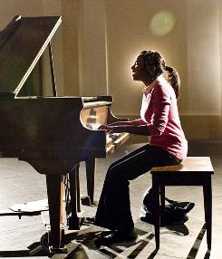Song of success: Naturi Naughton plays a pianist at a New York arts school in the remake of Fame.