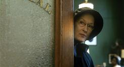 Meryl Streep plays a nun who suspects that a popular priest may have an overly close relationship with a student in Doubt.