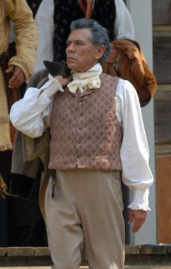 Cherokee Wes Studi stars in the third of five episodes in We Shall Remain as 19th-century Cherokee leader Major Ridge.