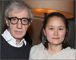Woody Allen married Soon-Yi, the adopted daughter of his former girlfriend, Mia Farrow, in 1997, five years after their split.