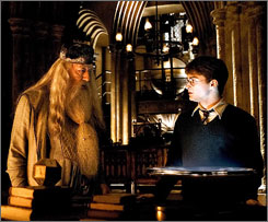 Attention, parents: Prepare to take off work July 15. That's when Dumbledore (Michael Gambon) and Harry (Daniel Radcliffe) hit theaters in Harry Potter and the Half-Blood Prince.