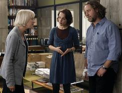 Helen Mirren, left, stars as the editor. Rachel McAdams is the blogger; Crowe, an old-school reporter, in State of Play.