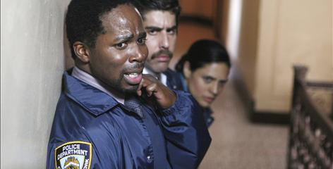 On the bubble are Harold Perrineau, Adam Goldberg and Monique Gabriela Curnen in The Unusuals.