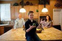 Alec Greven, juggling fruit and chatting with his mother, Erin, and father, Eric, has 300,000 copies of his books in print, with some of the proceeds going to a cancer charity. Alec has followed up How to Talk to Girls with How to Talk to Moms and, now, How to Talk to Dads, out Tuesday.