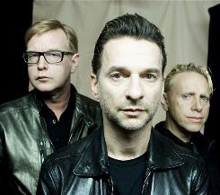 Staying current: Depeche Mode's Andrew Fletcher, left, David Gahan and Martin Gore will release a new album, Sounds of the Universe, Tuesday and start a U.S. leg of their world tour July 28.