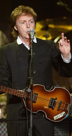 Paul McCartney performs at The Joint in the Hard Rock Hotel & Casino in Las Vegas Sunday.