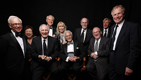 "The cast and producers of M*A*S*H who were on hand at the TV Land Awards: William Christopher (Father Francis Mulcahy), left, Kellye Nakahara Lt. Kellye Yamato), Alan Alda (Benjamin ""Hawkeye"" Pierce), Mike Farrell (B.J. Hunnicutt), Loretta Swit (Magaret ""Hot Lips"" Houlihan), Alan Arbus (Maj. Sidney Freedman), producers Burt Metcalfe and Larry Gelbart, Jeff Maxwell and Wayne Rogers (""Trapper"" John McIntyre)."