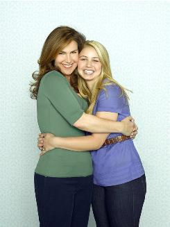 Peri Gilpin, left, and Ayla Kell play mother and daughter in Make It or Break It, a family drama about gymnasts airing in June.