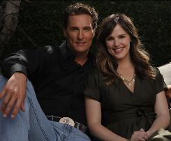 Successful (business) relationship: Matthew McConaughey and Jennifer Garner star in Ghosts of Girlfriends Past, a Dickens-inspired comedy out Friday.