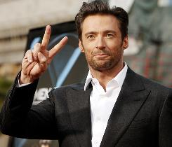 Hugh Jackman arrives at the screening of X-Men Origins: Wolverine Tuesday night in Los Angeles.