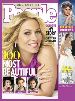 "Christina Applegate graces the cover of People's ""100 Most Beautiful"" issue, available on newsstands Friday, May 1."