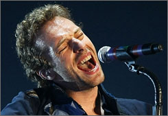Coldplay's Chris Martin performs March 23 in Singapore as part of their Viva La Vida tour.