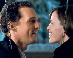 Matthew McConaughey plays a womanizer who reconnects with a childhood friend, played by Jennifer Garner.