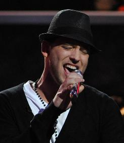 "Matt Giraud performs after being eliminated from American Idol Wednesday night. ""I believe in myself more than ever,"" he said."