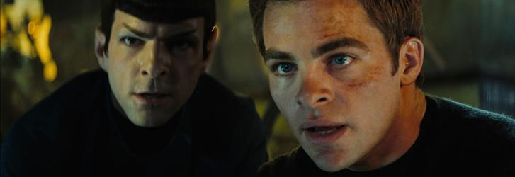 Youth is served: Zachary Quinto plays Spock and Chris Pine is James T. Kirk in the new Star Trek film, which begins soon after the two friends graduate from Starfleet Academy.
