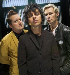 Green Day's Tre Cool, left, Billie Joe Armstrong and Mike Dirnt have a new album out Friday, but it's already streaming online at Rhapsody and MTV's The Leak.