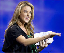 Miss California USA Carrie Prejean has come under fire for her public statements of opposition to gay marriage.