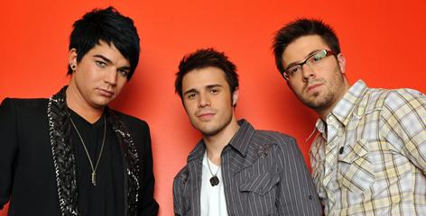 Adam Lambert, left, Kris Allen and Danny Gokey are the final 3 contestants on the 2009 edition of American Idol.