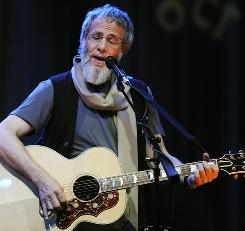Yusuf, formerly Cat Stevens, performs at the El Rey Theater in Los Angeles Monday night.